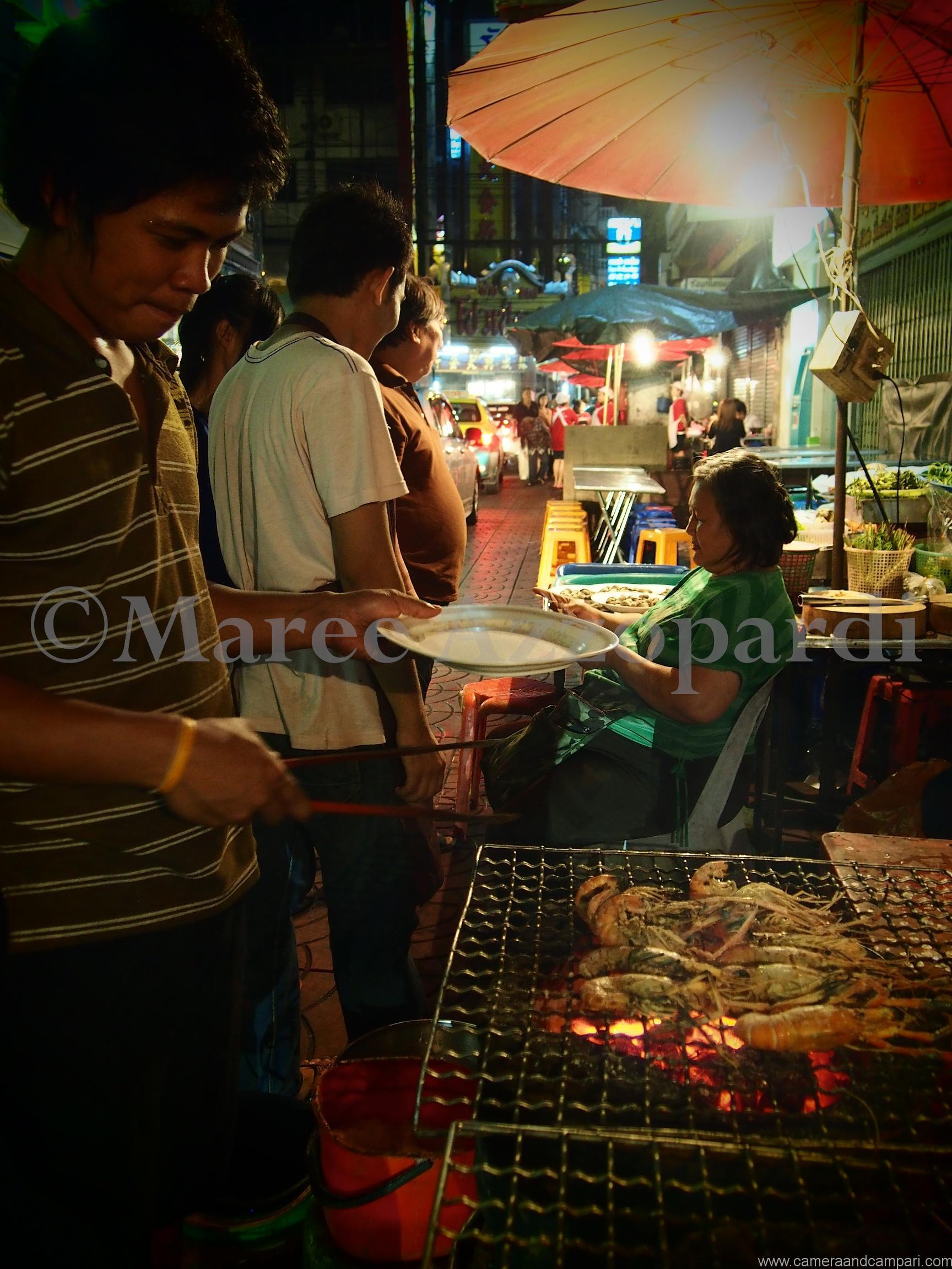Street food being cooked in Bangkok