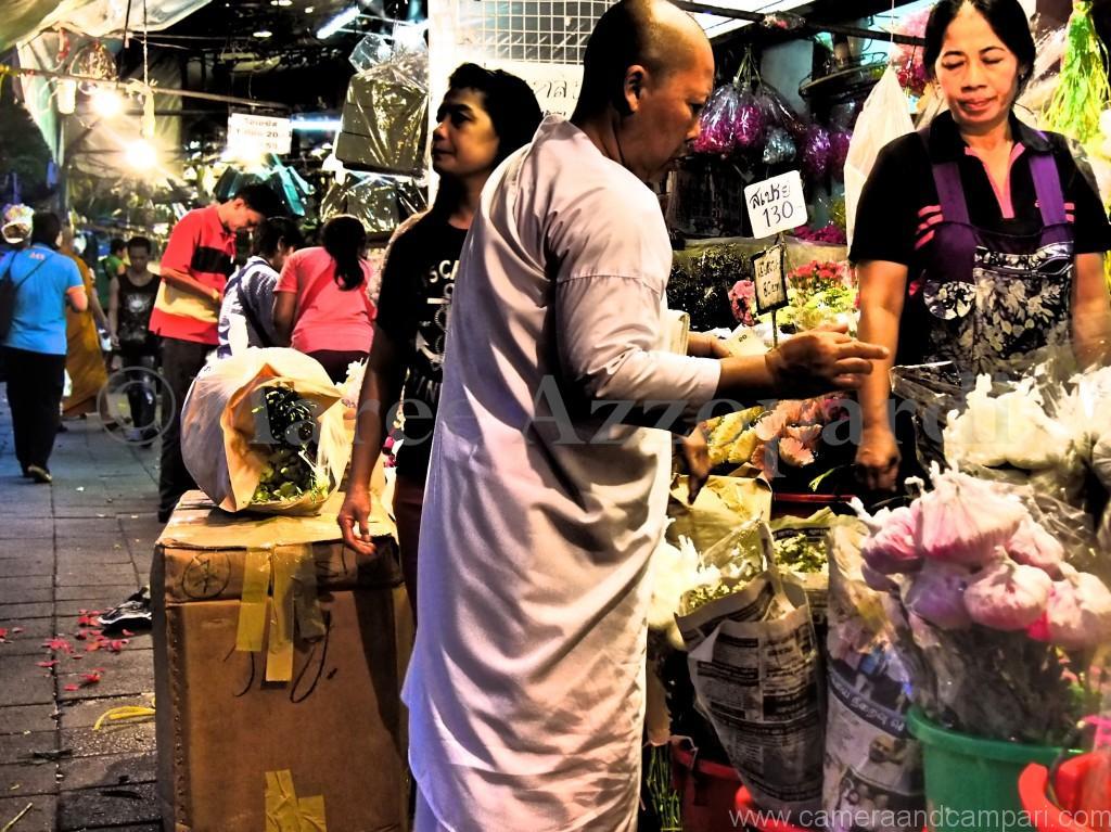 Buddhist Nun flower shopping