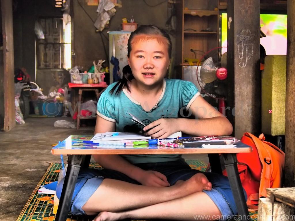 Girl Studying in Mae Sai Myanmar