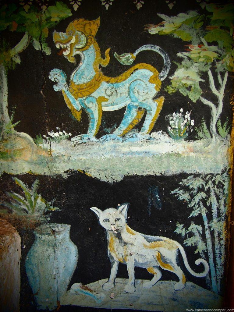 Wat intereior near Pak Ou Caves Luang Prabang