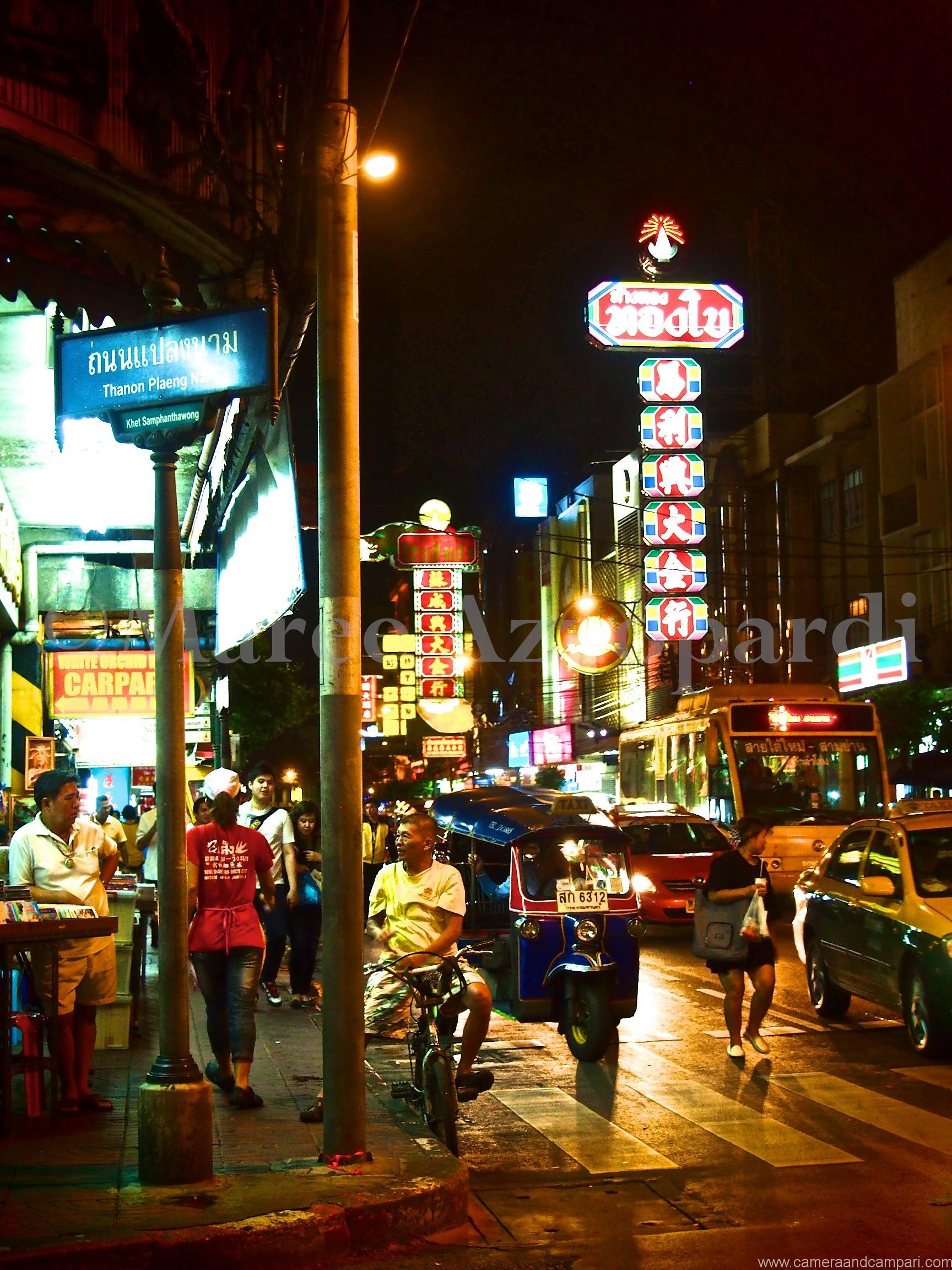 Yaowarat Road is Chinatown's main drag in Bangkok.