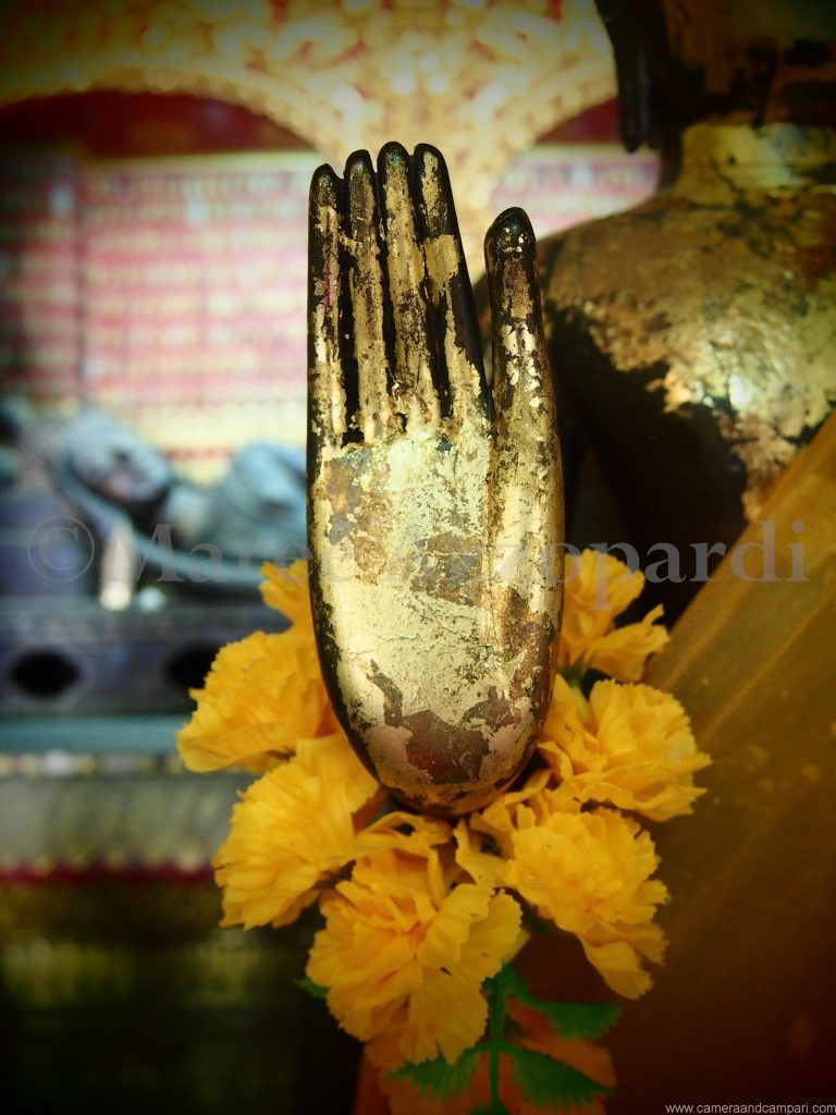 One of the many Gold Hands in a Buddhist Temple
