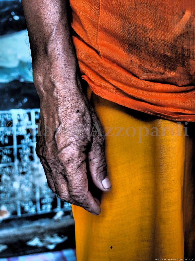 Monks hand