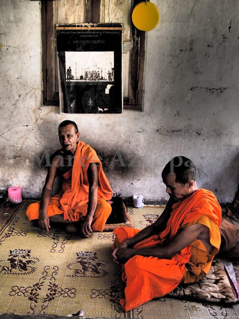 Monks outside Luang Prabang