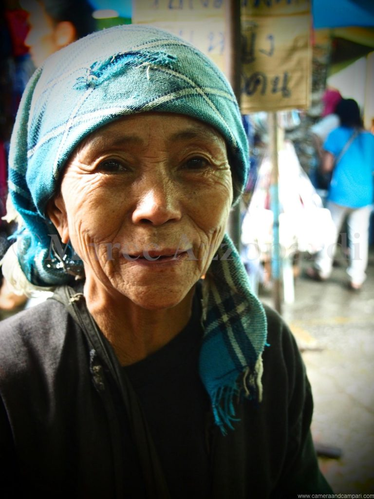 old lady at Tachilek market